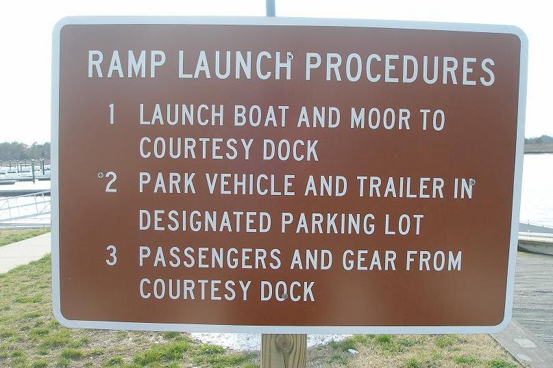 instructions on how to use a boat ramp