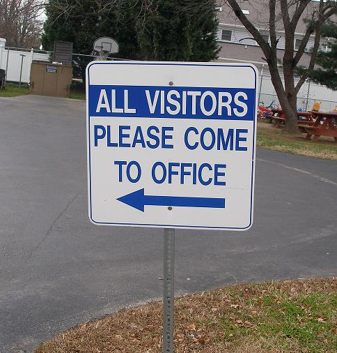 visitors report to office